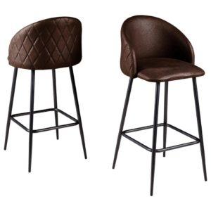 Barová Židle Antonia Tmavě Hnědá