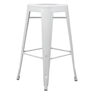 Barová Židle Paul Bílá