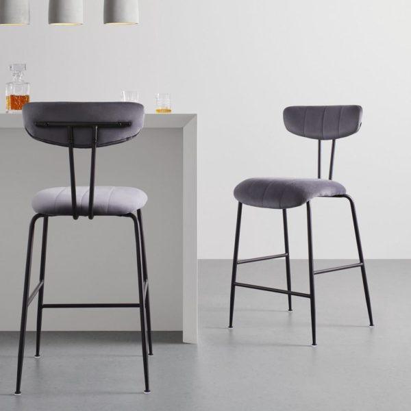 Barová Židle Tylor Tm.šědá