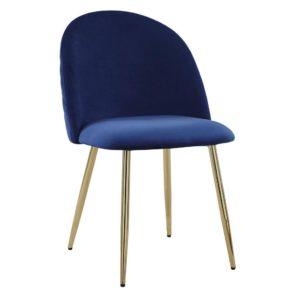 Jídelní Židle Artdeco Modrá