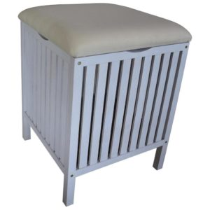 Taburet/koš Na Prádlo Classic White Wash